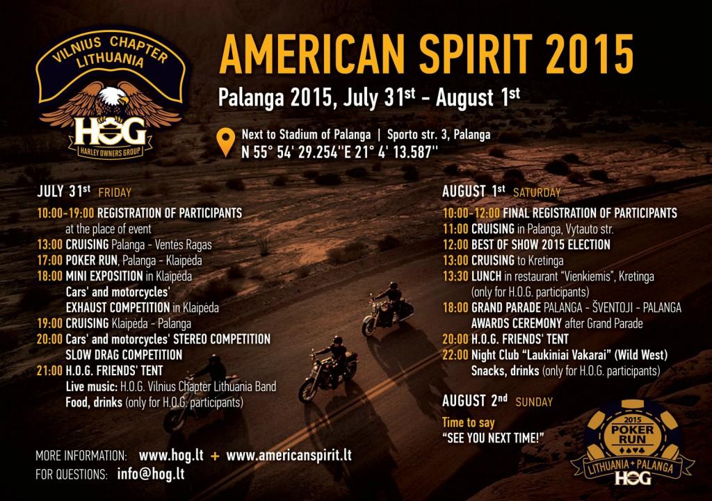 American Spirit 2015 Program