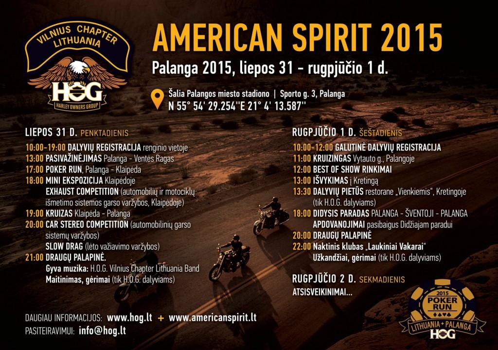 American Spirit 2015 Programa